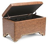 Lil Harley Faux Leather Shoe Ottoman
