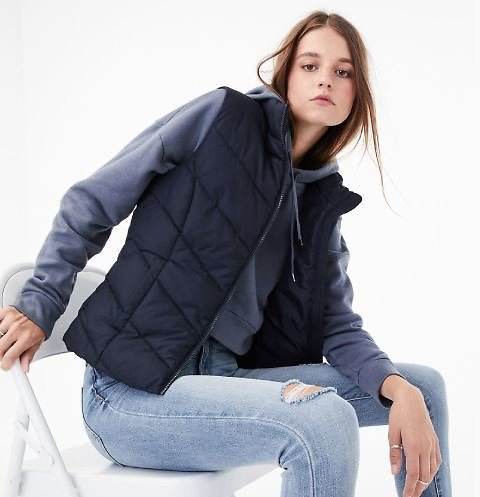 $9.99 Aeropostale Quilted Puffer Vest (8 Colors)