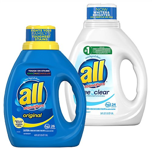 All Laundry Detergents (Mult. Options)