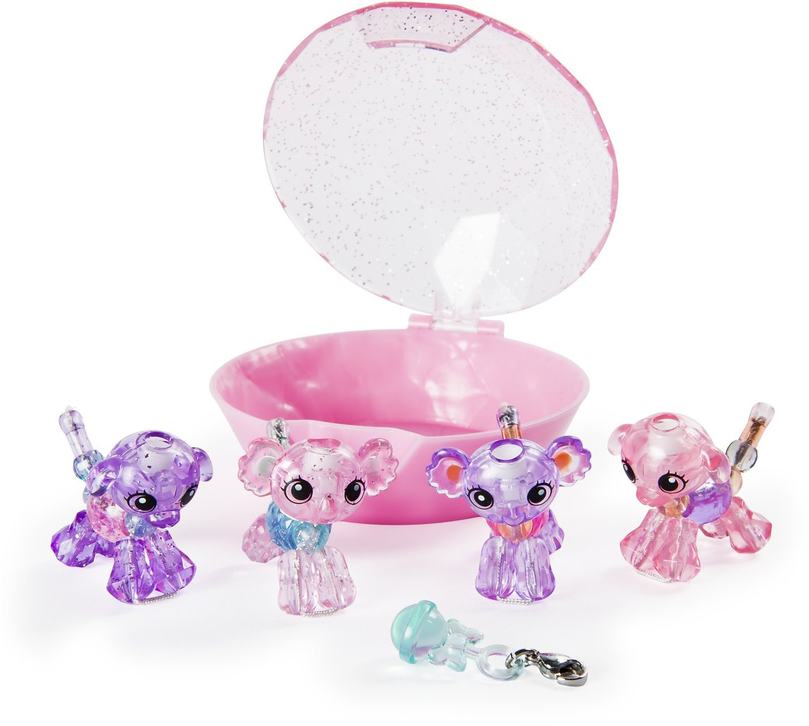Twisty Petz, Series 2 Babies 4-Pack, Koalas and Puppies Collectible Bracelet and Case (Pink