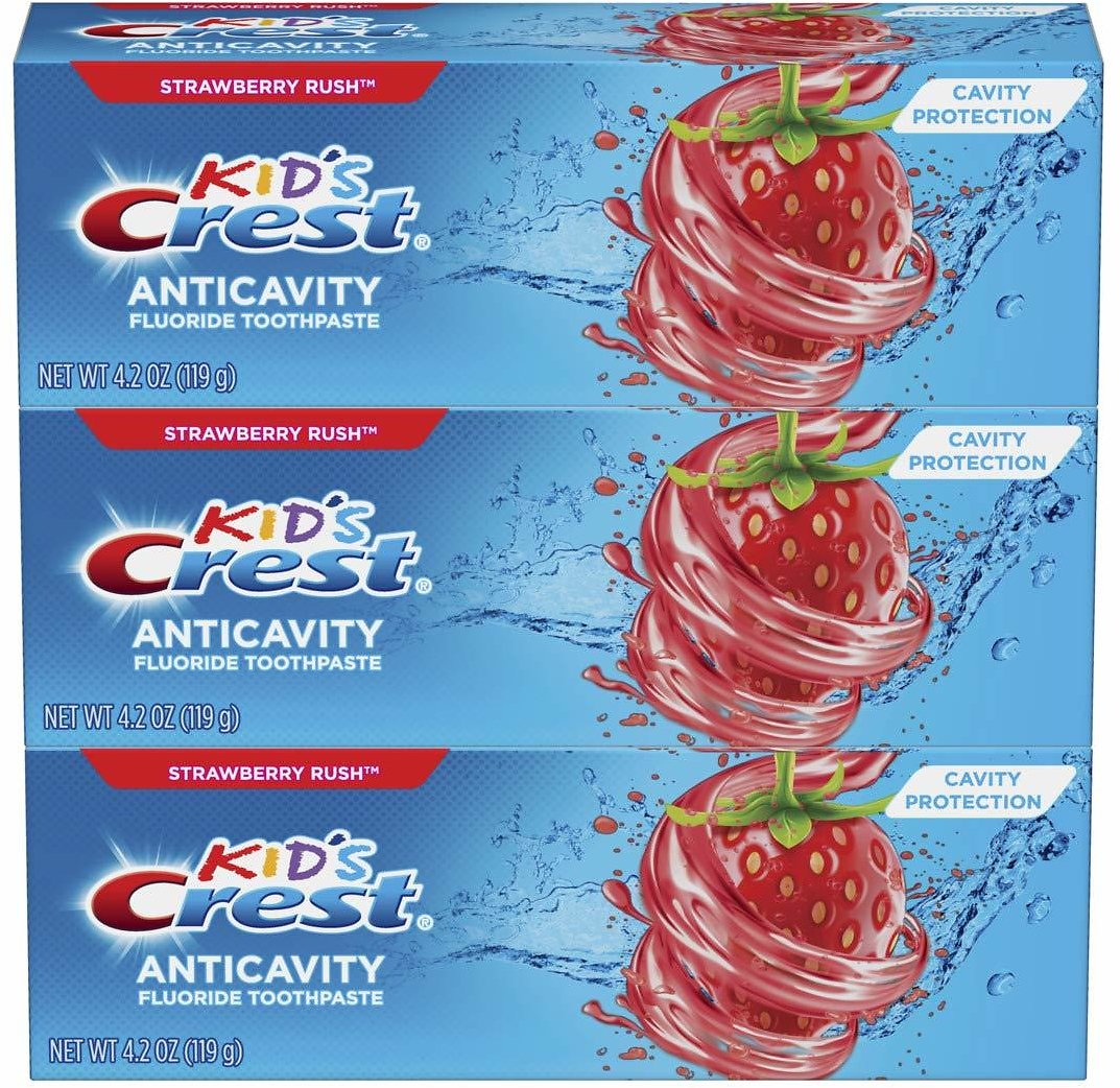 3-Pk Crest Kid's Cavity Protection Fluoride Toothpaste