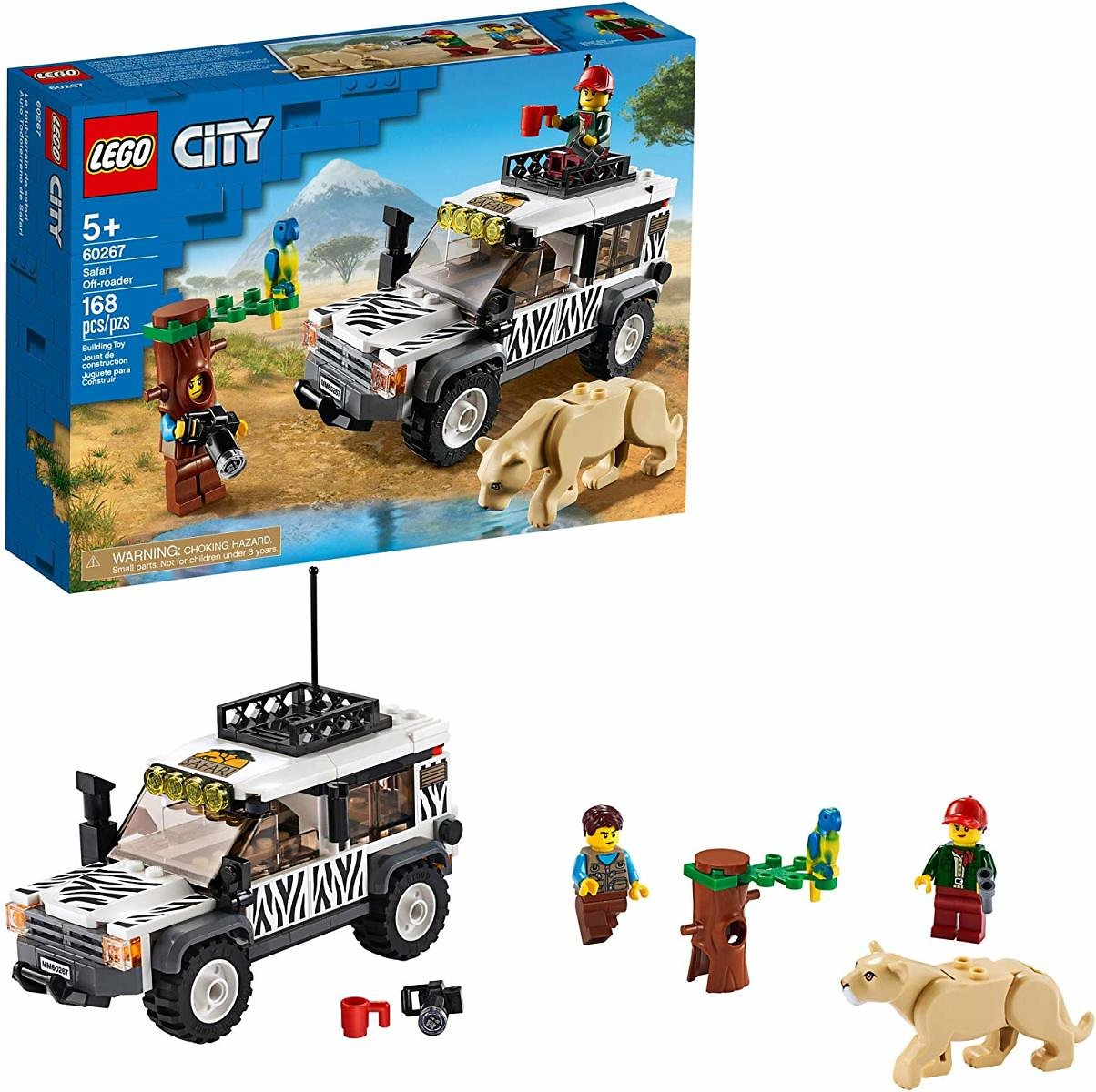 LEGO City Safari Off-Roader 60267 Off-Road Toy, New 2020 (168 Pieces)