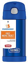 Buy 1, Get 1 50% OFF Thermos Kids Funtainer Hydration Bottle With $10 Free Movie Ticket Blue