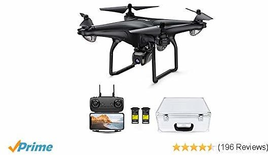 Potensic D58, FPV Drone with 1080P Camera, 5G WiFi HD Live Video, GPS Auto Return, RC Quadcopter for Adult, Portable Case, 2 Battery, Follow Me, Easy Selfie Beginner, Expert
