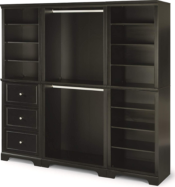 HOMESTYLES Bedford Black Armoire + Ships Free