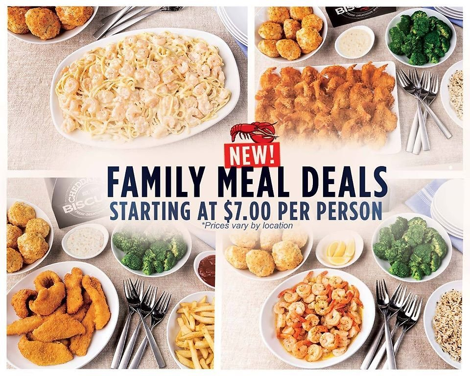 Family Meal Deals Starting At $7.00 Per Person At Red Lobster