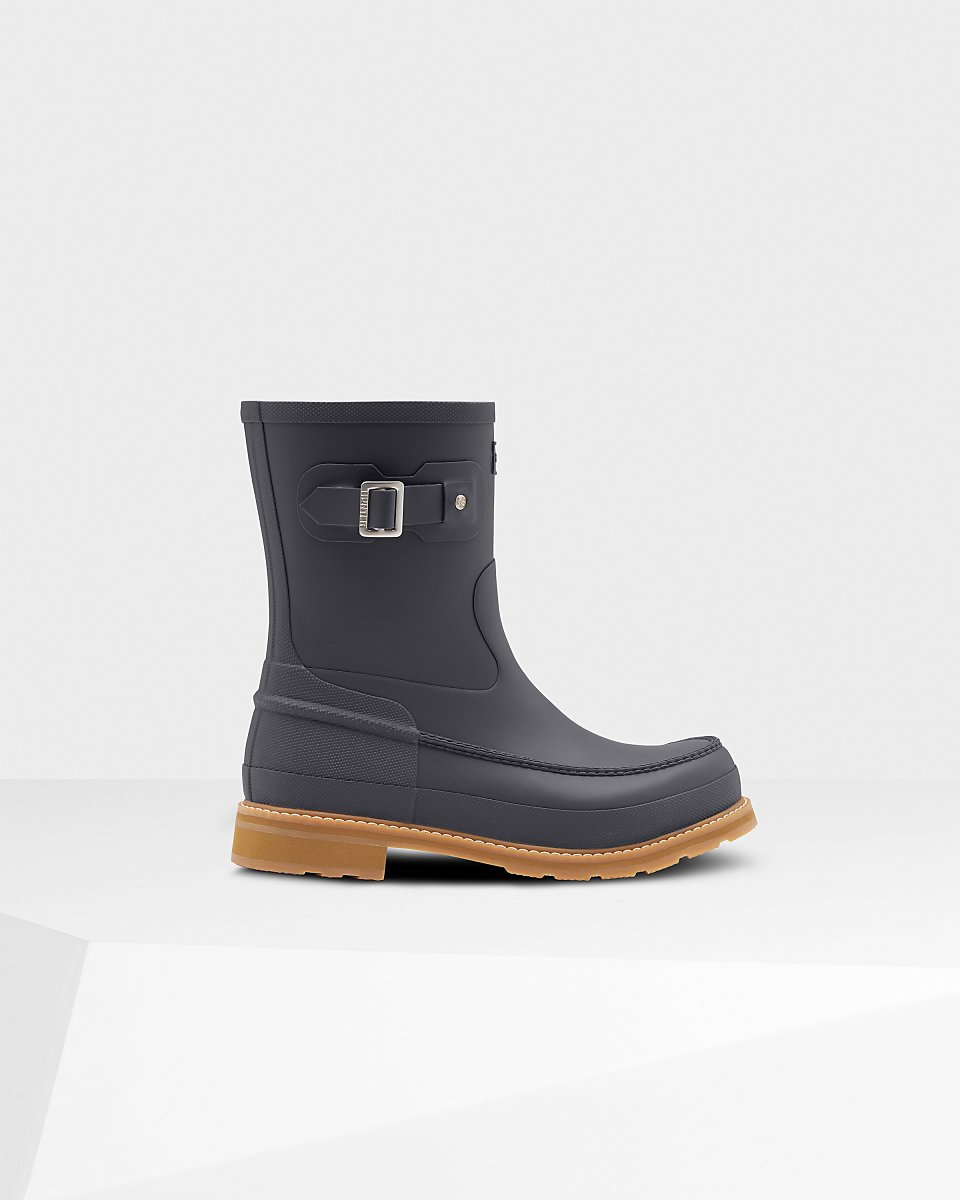 Men's Original Moc Toe Short Rain Boots: Luna Grey