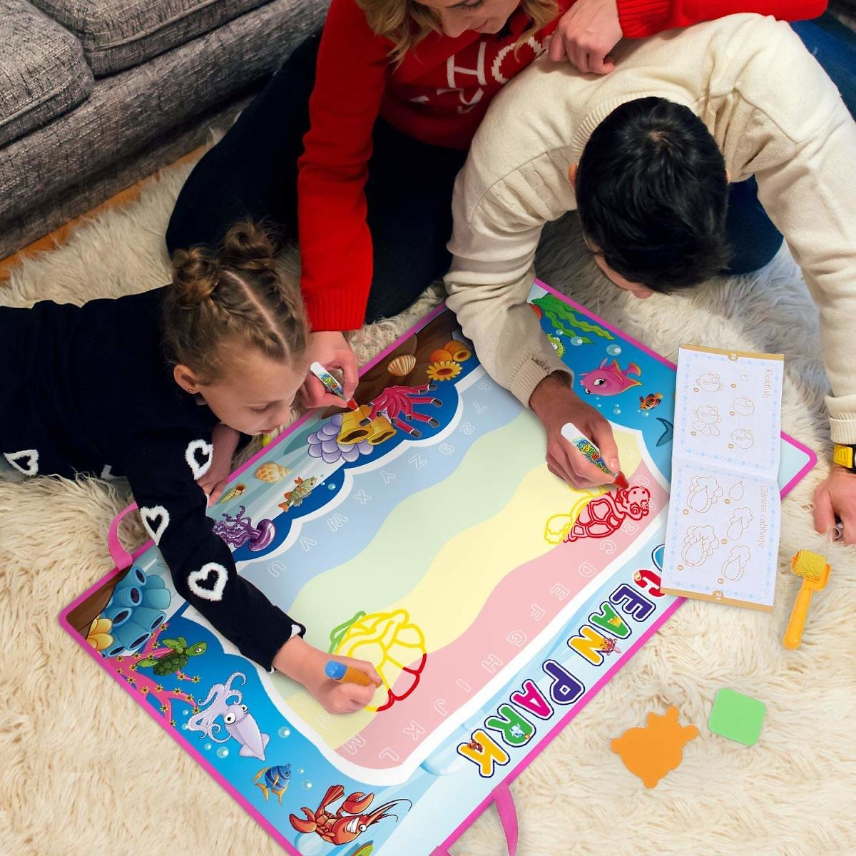Toch Large Water Drawing Mat Doodle Board