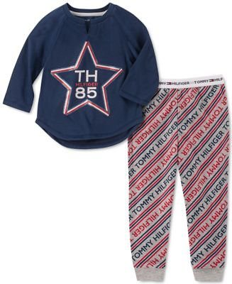 Tommy Hilfiger Toddler, Little & Big Girls 2-Pc. Star Pajama Set & Reviews - Pajamas - Kids