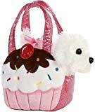 Aurora World Fancy Pals Plush Pink Polka Dot Purse Pet Carrier with Dog: Toys & Games