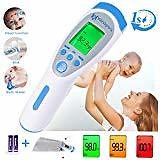 Mosen Baby Thermometer, Thermometer for Fever Ear and Forehead, Kid and Adult Thermometer, 4 Modes Digital Medical Infrared Thermometro for Body, Surface and Room : Baby
