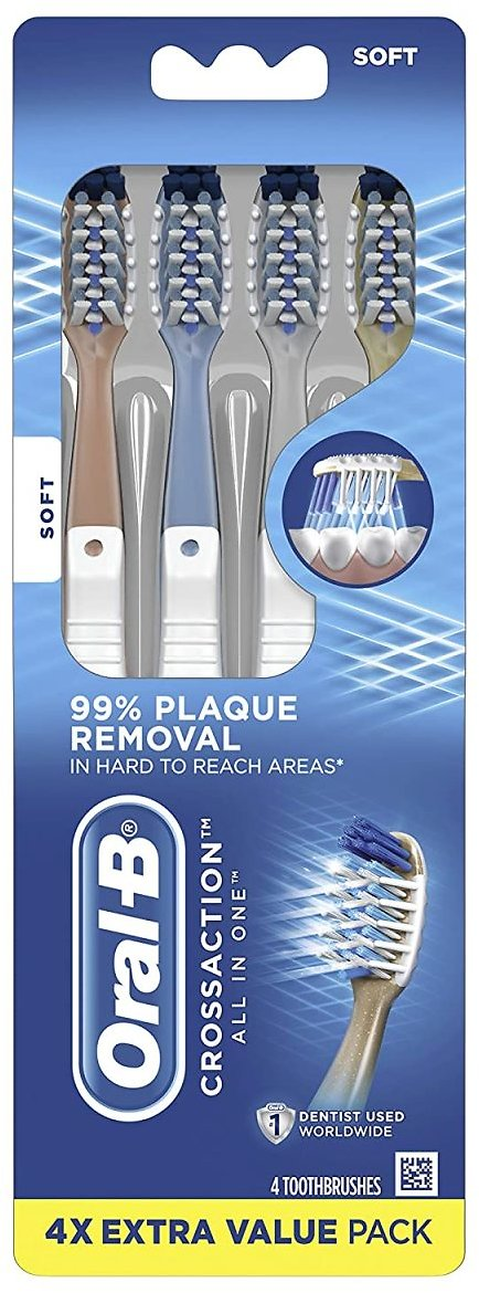 4-Ct. Oral-B CrossAction Toothbrushes (2 Options)