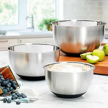 MIU Stainless Steel Mixing Bowls (Set of 3)