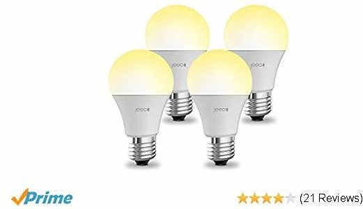 Smart WiFi Light Bulbs - A19 E26 Dimmable LED Lights By Jeeo - Soft White 60W Equivalent, Compatible with Alexa/Google/IFTTT,2.4GHz Only (4 Pack)