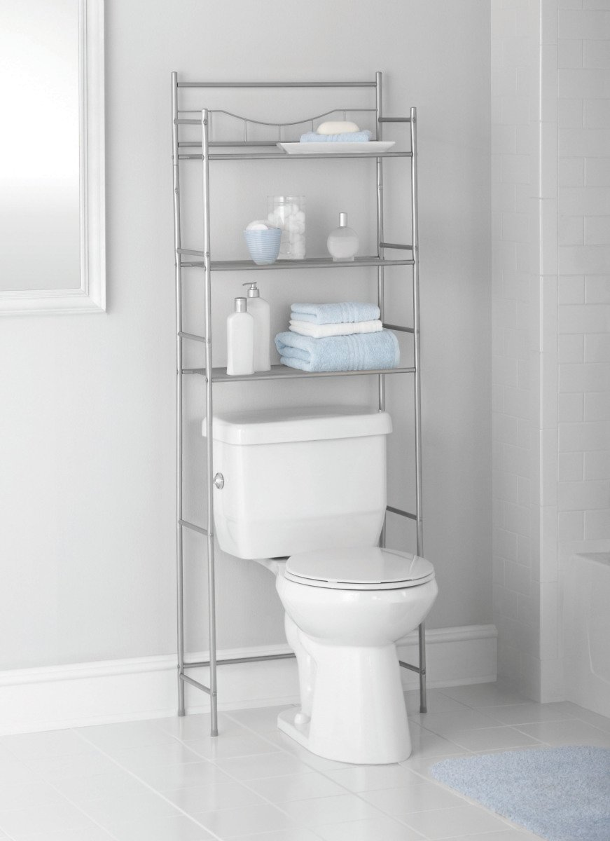 Mainstays 3-Shelf Bathroom Over The Toilet Space Saver with Liner (2 Colors)