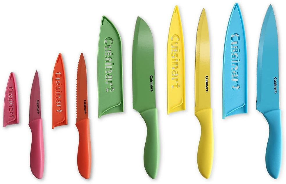 Cuisinart 10-Pc. Ceramic Cutlery Set with Blade Guards