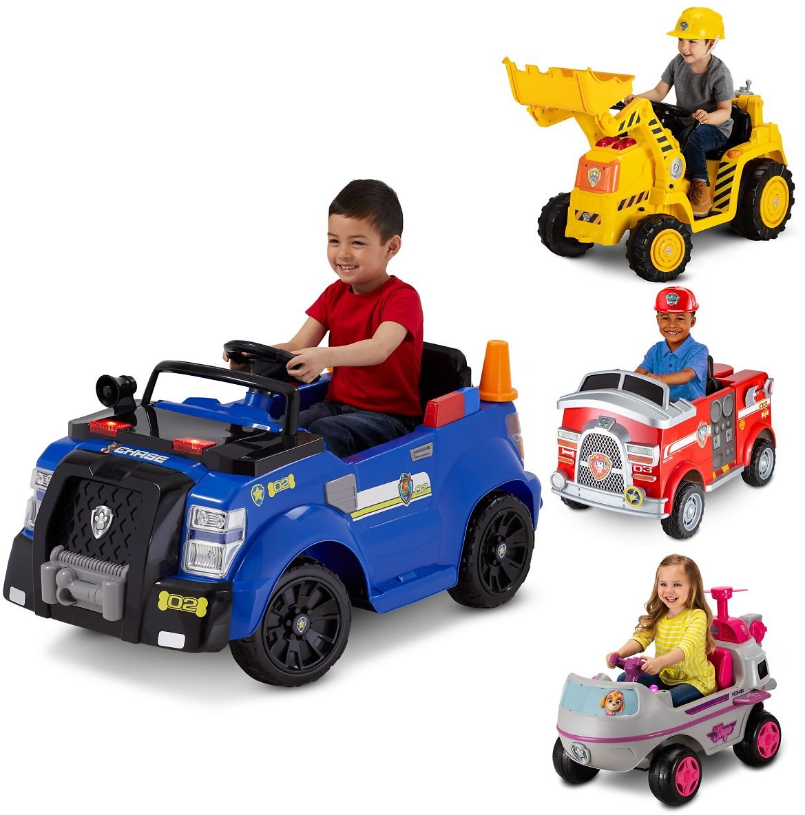 Kid Trax Nickelodeon Paw Patrol Chase Police Cruiser 6-Volt Toy - 3 Styles