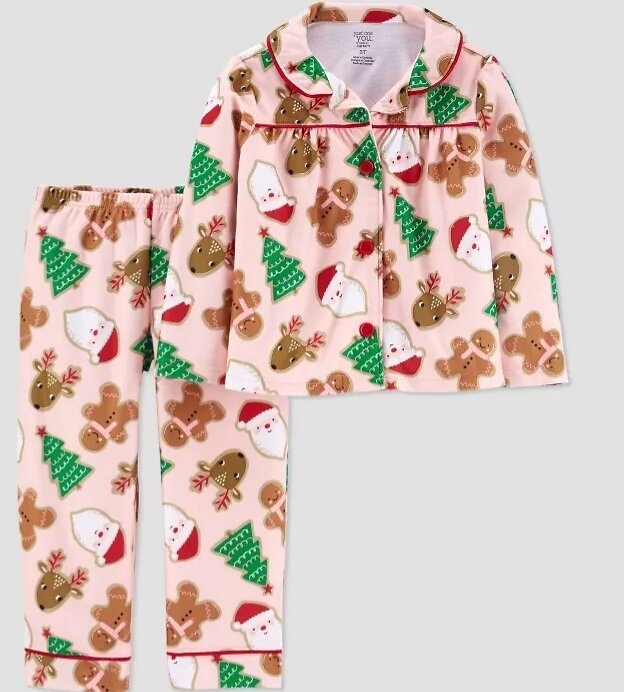 Just One You® Made By Carter's Toddler Girls' Santa Coat Pajama Set - Sizes 2T&18