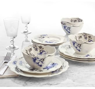 Hotel Collection Classic Morning Glory 12-Pc. Dinnerware Set,