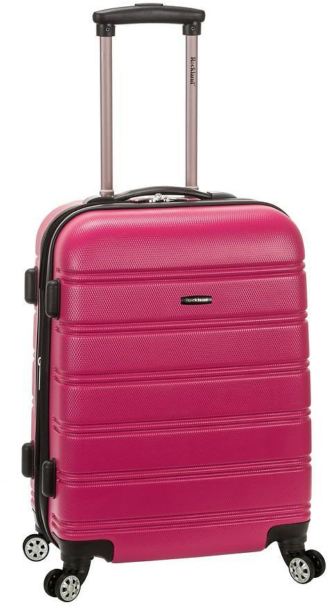 Rockland Melbourne 20 In. Expandable Carry On Hardside Spinner Luggage (17 colors)
