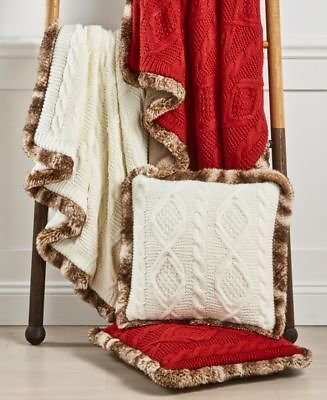 Martha Stewart Collection Sweater Knit Throw & Decorative Pillow Collection