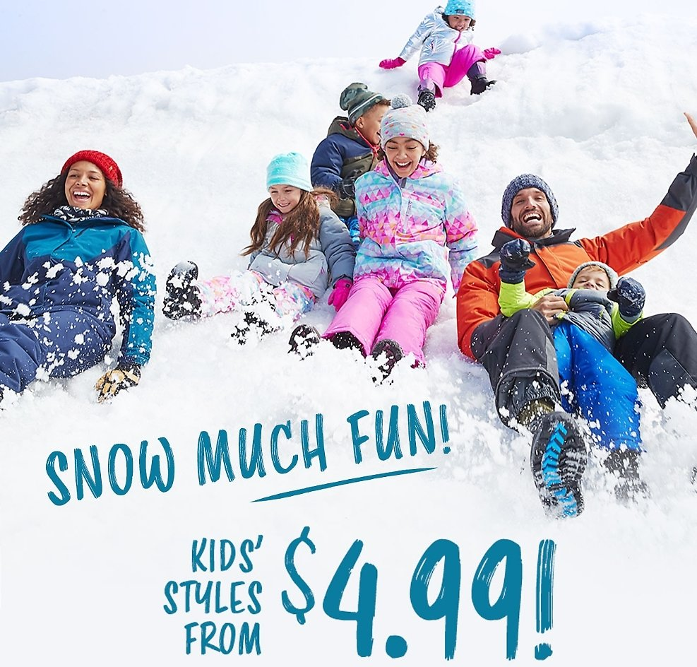 Over 50% Off Kids Winter Clothing Sale