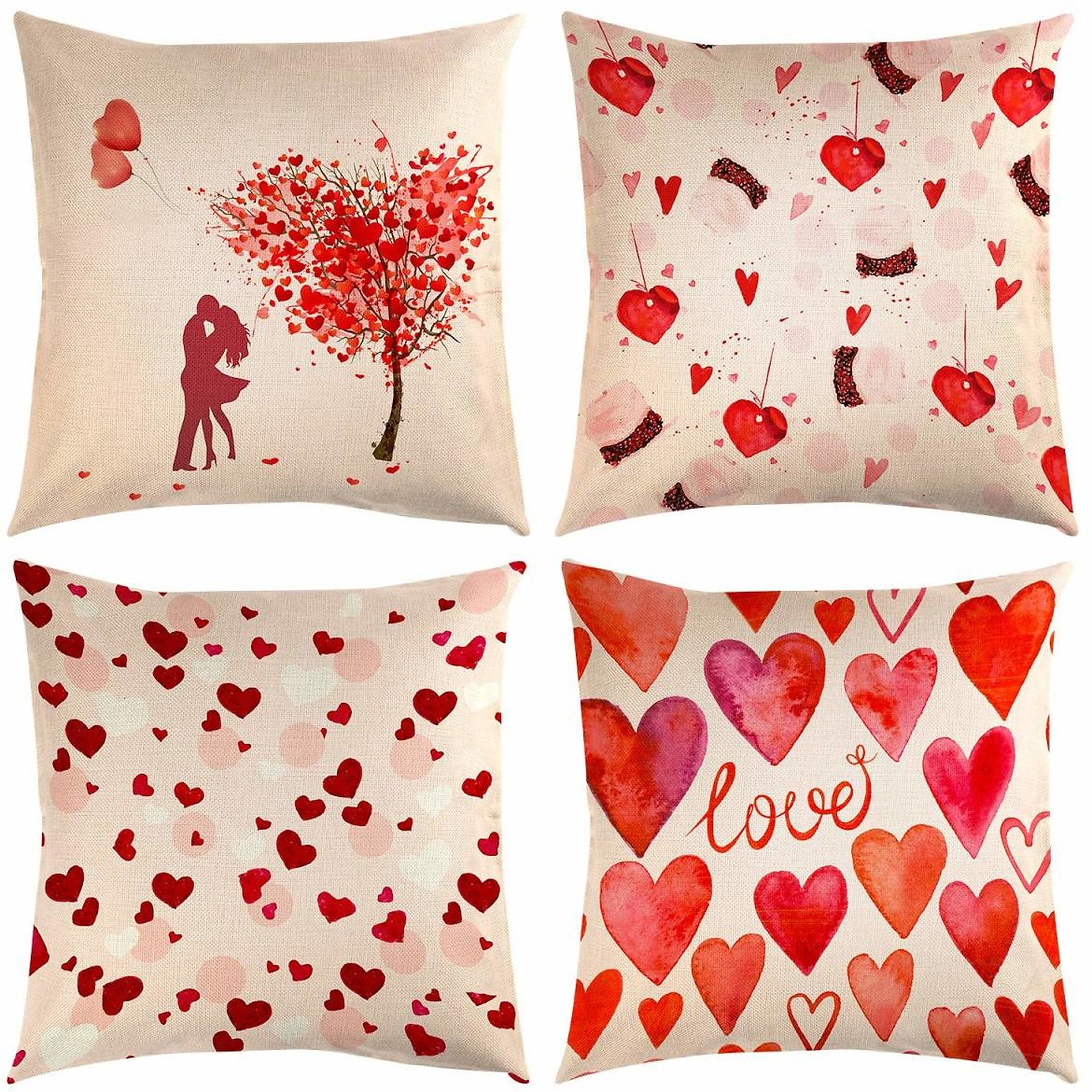 TUPARKA 4 Pcs Happy Valentine's Day Throw Pillow Covers Buy used: $8.77 Now