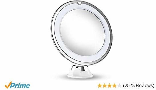 Magnifying Makeup Mirror With Lights, LED Lighted Portable Hand Cosmetic Magnification Light Up Mirror