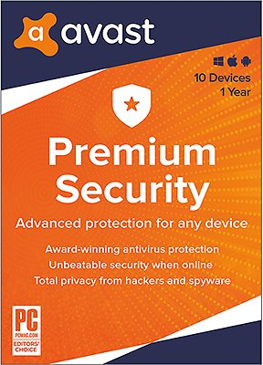 Avast Premium Security 2020   10 Devices 1 Year   Download