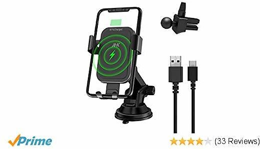 Wireless Charger Car Mount, Gravity Windshield Dashboard Air Vent Phone Holder