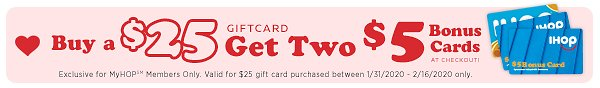 IHOP Gift Cards By CashStar FREE $5 Bonus Cards At Checkout