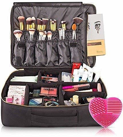 Save 45% | Habe Travel Makeup Bag with Mirror for Women