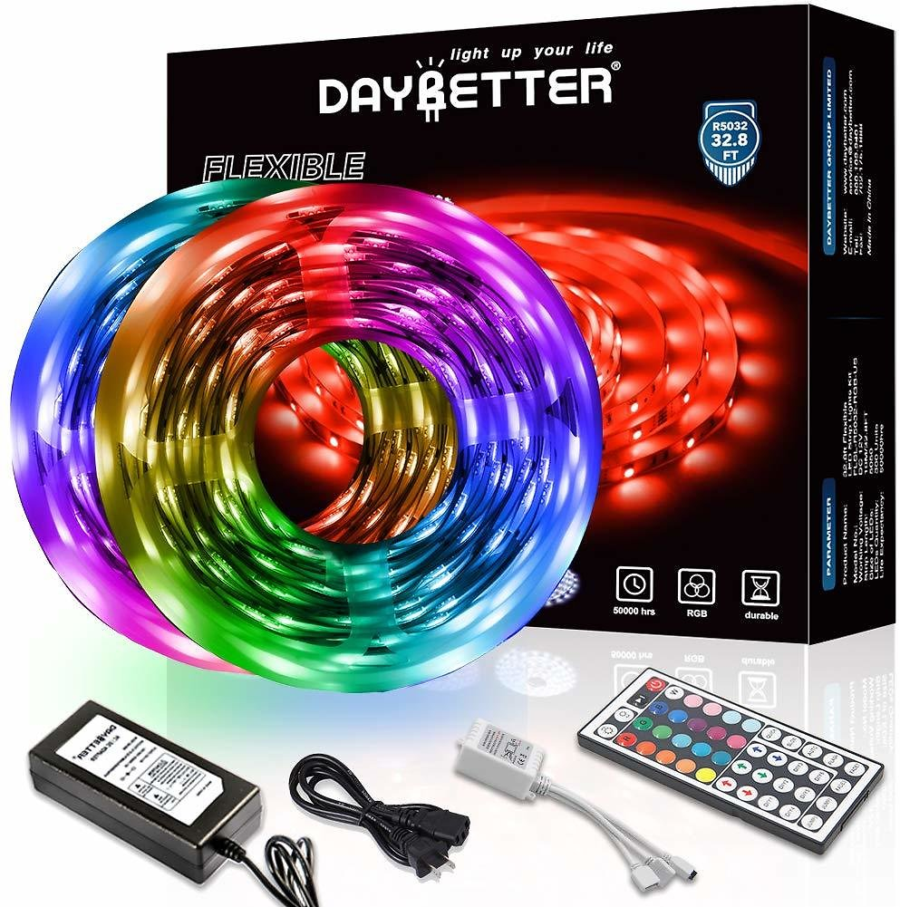 Daybetter LED Strip Lights - Flexible Color Changing RGB 300 LEDs