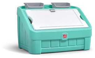 Step2 2-in-1 Kids Toy Box & Art Lid, Mint