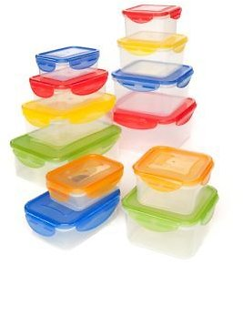 24-Piece Plastic Storage Set with Snap Lid