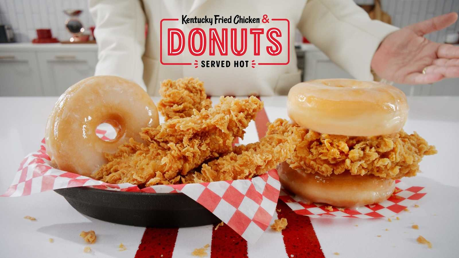 KFC Kentucky Fried Chicken & Donuts Sandwich and Basket Coming to Restaurants Nationwide
