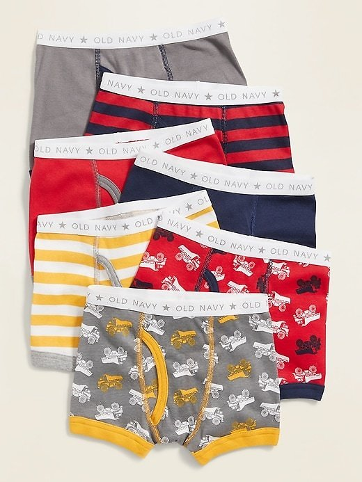 Printed Boxer-Brief 7-Pack for Toddler Boys