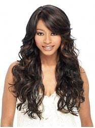 Synthetic Long Side Bang Loose Wave Wig
