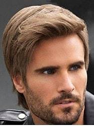 Synthetic Short Straight Side Part Men Wig - 4inch