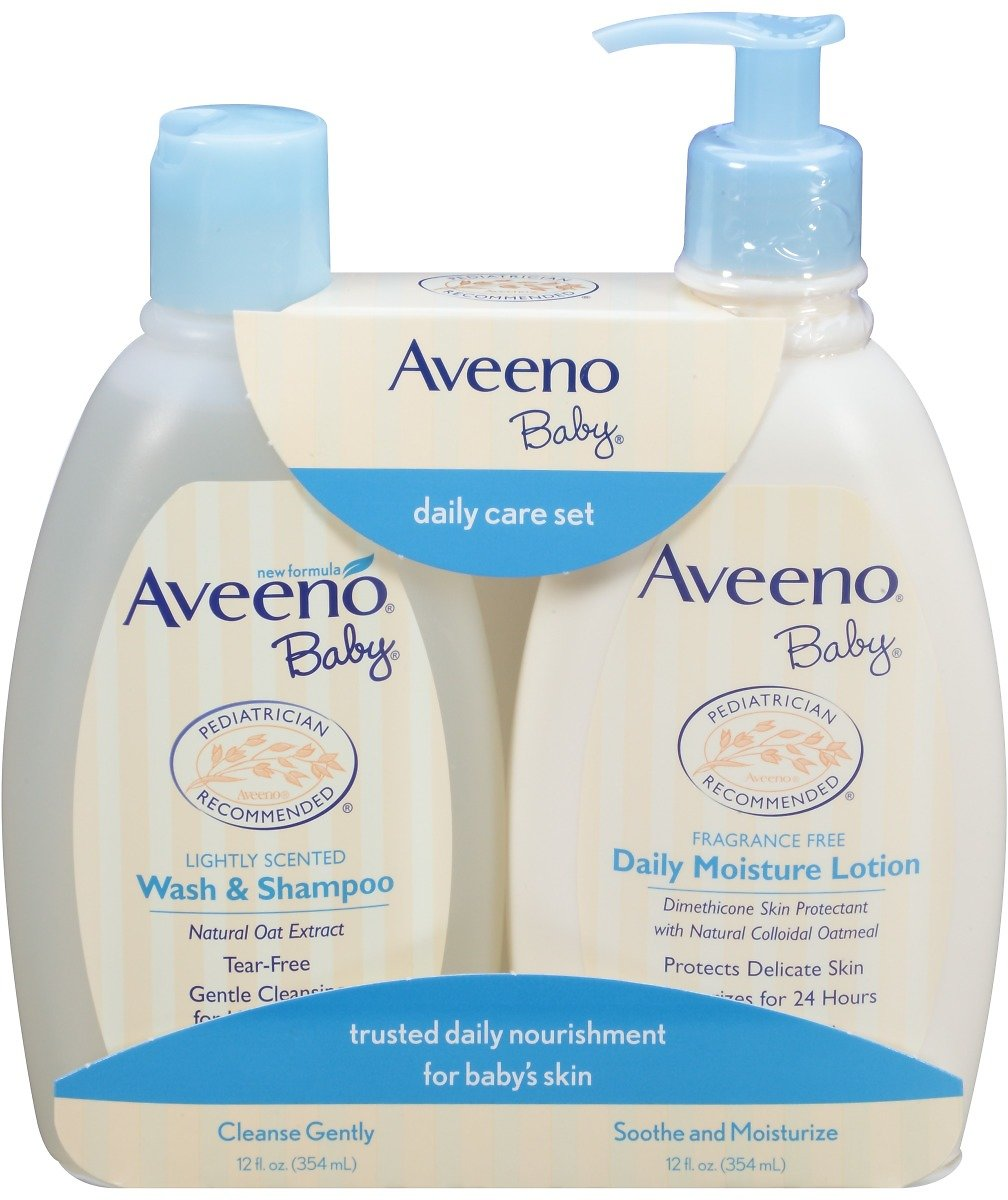 2-Pk Aveeno Baby Daily Care Set w/ Natural Oat Extract