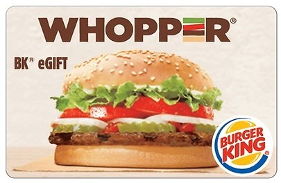 $5 for $10 Burger King EGift Card (50% Off) Groupon