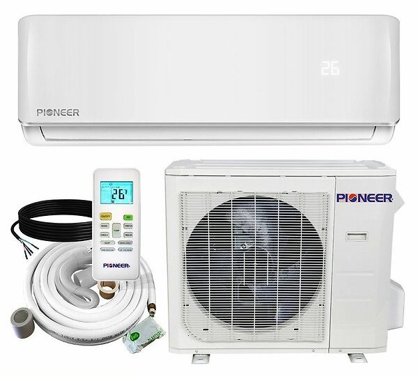 12,000 BTU Ductless Mini Split Air Conditioner with Heater and Remote