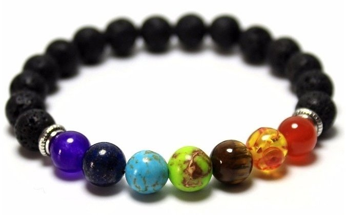 7 Genuine Chakra Healing Natural Stone Bead Bracelet By DreamGem