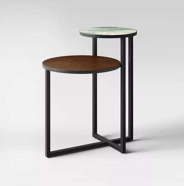 Project 62™ Mixed Material Marble & Metal Accent Table - Black