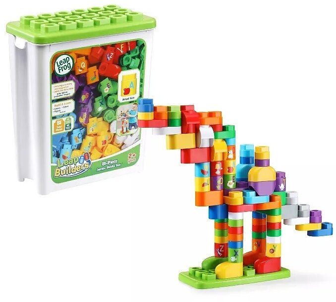 81-Pc LeapFrog LeapBuilders Jumbo Blocks Box