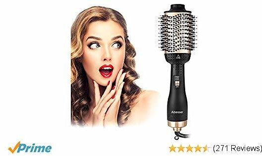 Aibesser One-Step Hair Dryer & Volumizer Hot Air Styler Brush,5 in 1 Multifunctional Blow Dryer Brush with Professional Negative Ion,Reduce Frizz and Static Hair Dryer Styler Brush