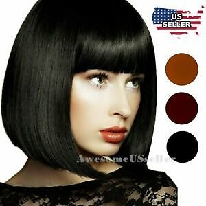 Women Fashion Cosplay Costume Party Hair Anime Wigs Short Full Hair Straight Wig