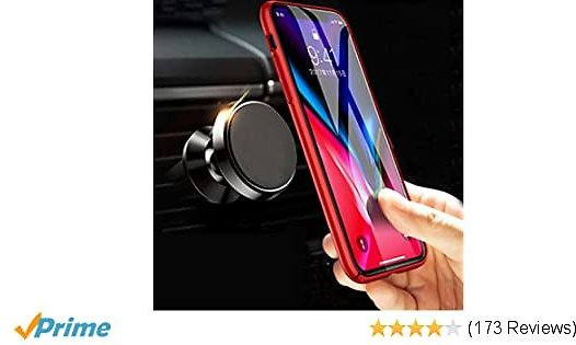 Magnetic Car Mount, MANORDS Universal Air Vent Cell Phone Holder 360°Rotation GPS Mount Compatible IPhone Xs Max Xs X 8 Plus 7 6s SE Samsung Galaxy S9 S8 Edge S7 S6 Note 9 and More (Black)