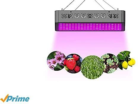 UEIUA GL-218 LED Grow Light,2000W Full Spectrum Remote Control Grow Lamp for Indoor Plants with Multiple Functions Including Temperature-Humidity Monitor/Group Control/Timing/Lamp Mode Switch