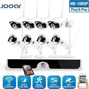 8CH 1080P Wireless Wifi HDMI NVR Home Outdoor IP Security Camera System 2TB HDD